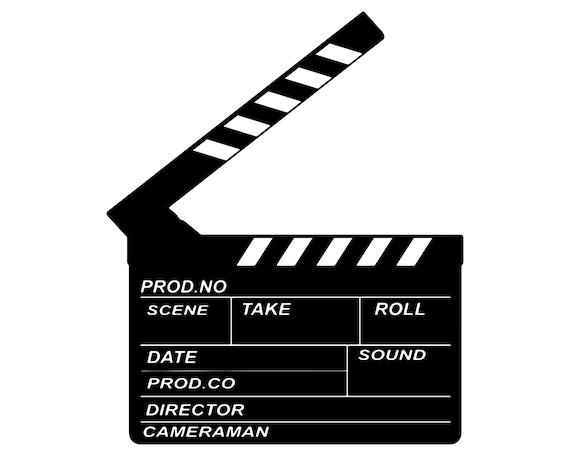 Movie Clapperboard Svg Film Clapper Board Svg Film Etsy