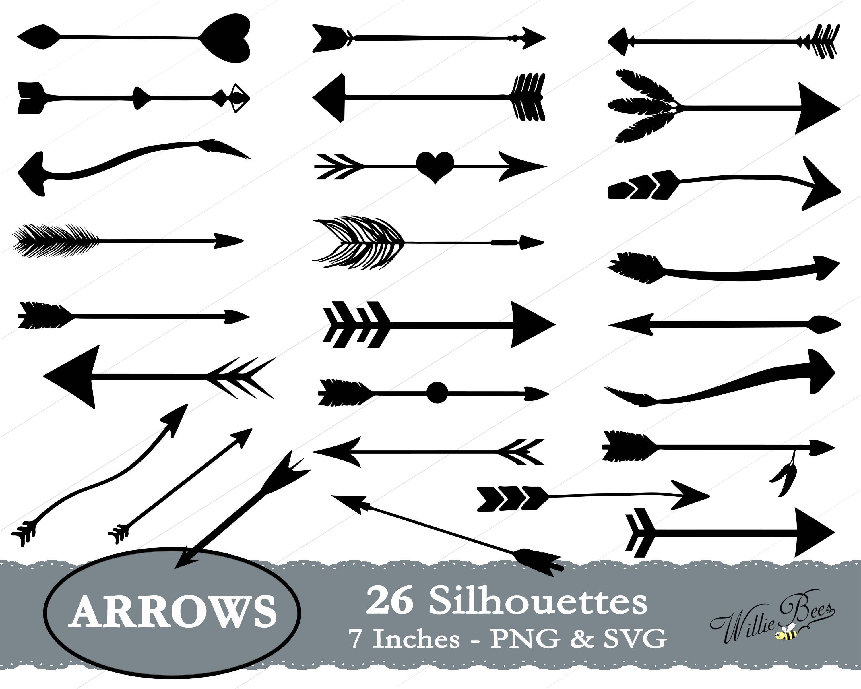 arrow svg arrow silhouette tribal arrows arrow clipart etsy rh etsy com tribal arrow vector free Indian Arrow Vector