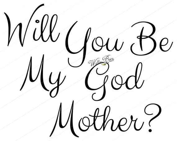 Will You Be My Godmother Baptism Be My Godmother Overlay Etsy