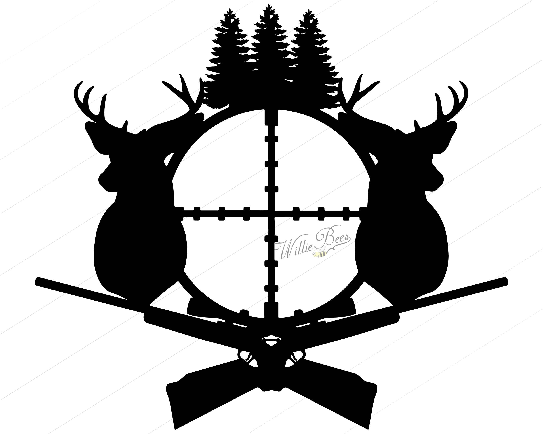 deer hunting svg silhouette clipart gone hunting deer rifle rh etsystudio com deer hunting clip art free funny deer hunting clipart