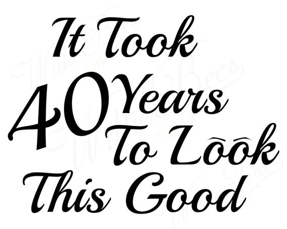 40th Birthday SVG Milestone Forty Years 40 Old