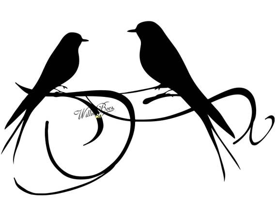 Love Bird SVG Bird Clipart Love Bird Silhouette Love Birds | Etsy