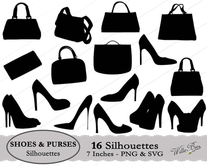 e43a407d58719 Shoe SVG, Purse SVG, Purses and Shoes, Handbags, High Heel Shoes, Dress  Shoes, Shoulder Purse, High Heels, Cutting Machine, Instant Download