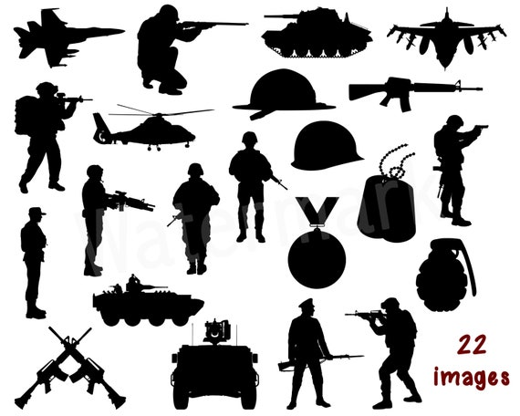 Military Silhouette Svg Soldier Svg Army Svg Hero Clipart Gun Clipart Dog Tags Military Vehicle Veterans Day Instant Download