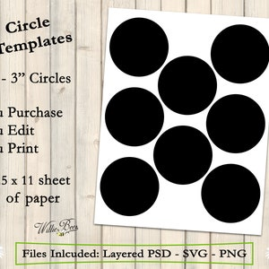 half inch circle rounds Bottle Cap 0.75 inch circle collage sheet template PNG commercial use printable craft template SVG TT20 PSD