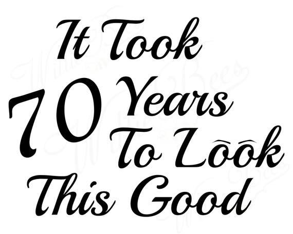 Vaak Mijlpaal verjaardag SVG zeventig jaar 70 jaar oud Birthday   Etsy @WB73