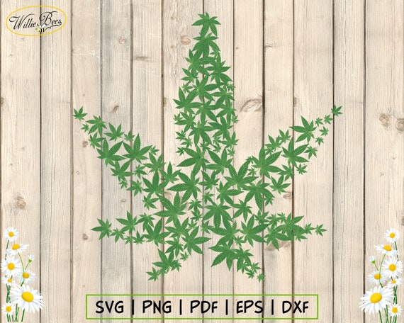 Cannabis Leaf Svg Weed Svg Marijuana Leaf Svg Clipart Pot Etsy
