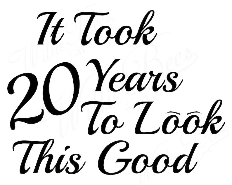 Verjaardag Svg Mijlpaal Verjaardag Svg Twintig Jaar 20 Jaar Etsy
