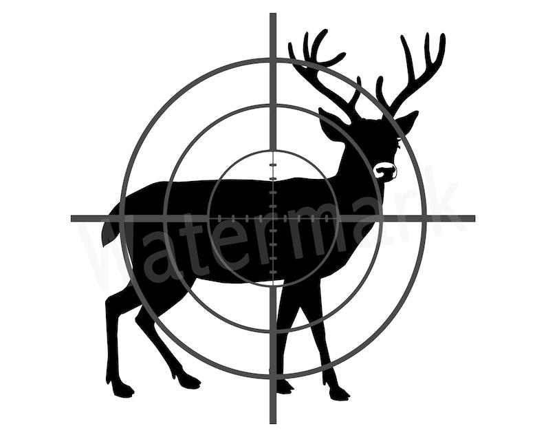 c22fcbebfc Deer SVG Deer In Scope Deer Hunting Gone Hunting Hunting | Etsy