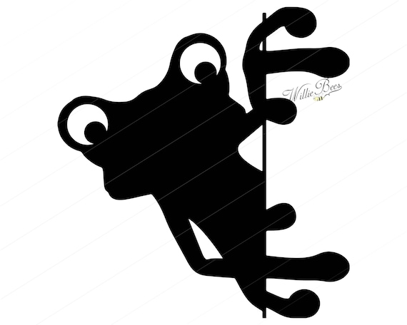 Peeking Frog Svg Clipart Tailless Amphibians Peeking Frog