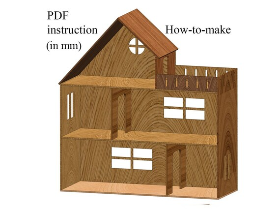 Dollhouse for PDF Plans Step-by-Step instruction DiY - 5 Rooms &  on metal shop house plans, ranch house plans, lowe's house plans, belk house plans, marriott house plans, small 3 bedrooms house plans, house floor plans, walk out basement house plans, amazon house plans, hallmark house plans, single story house plans, carter lumber house plans, secret passage house plans, do it best house plans, loft house plans, pottery barn house plans, brady house plans, simple 4 bedroom house plans, ebay house plans, ikea house plans,