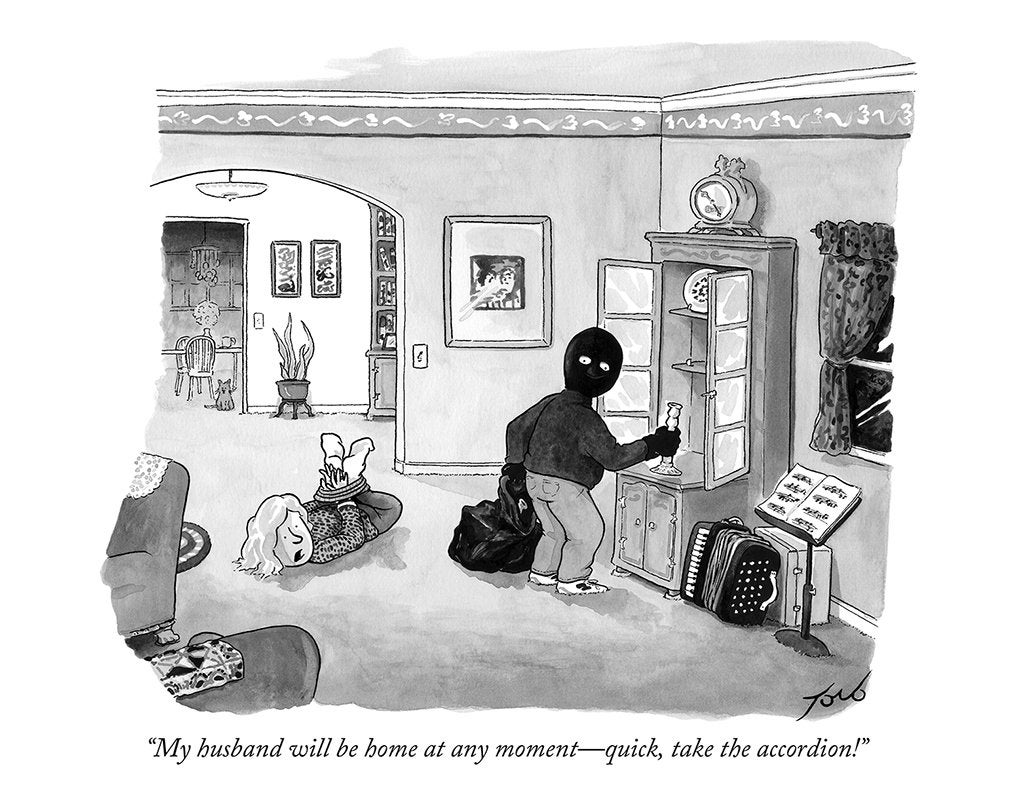 08d4fa28 Signed print of my New Yorker cartoon