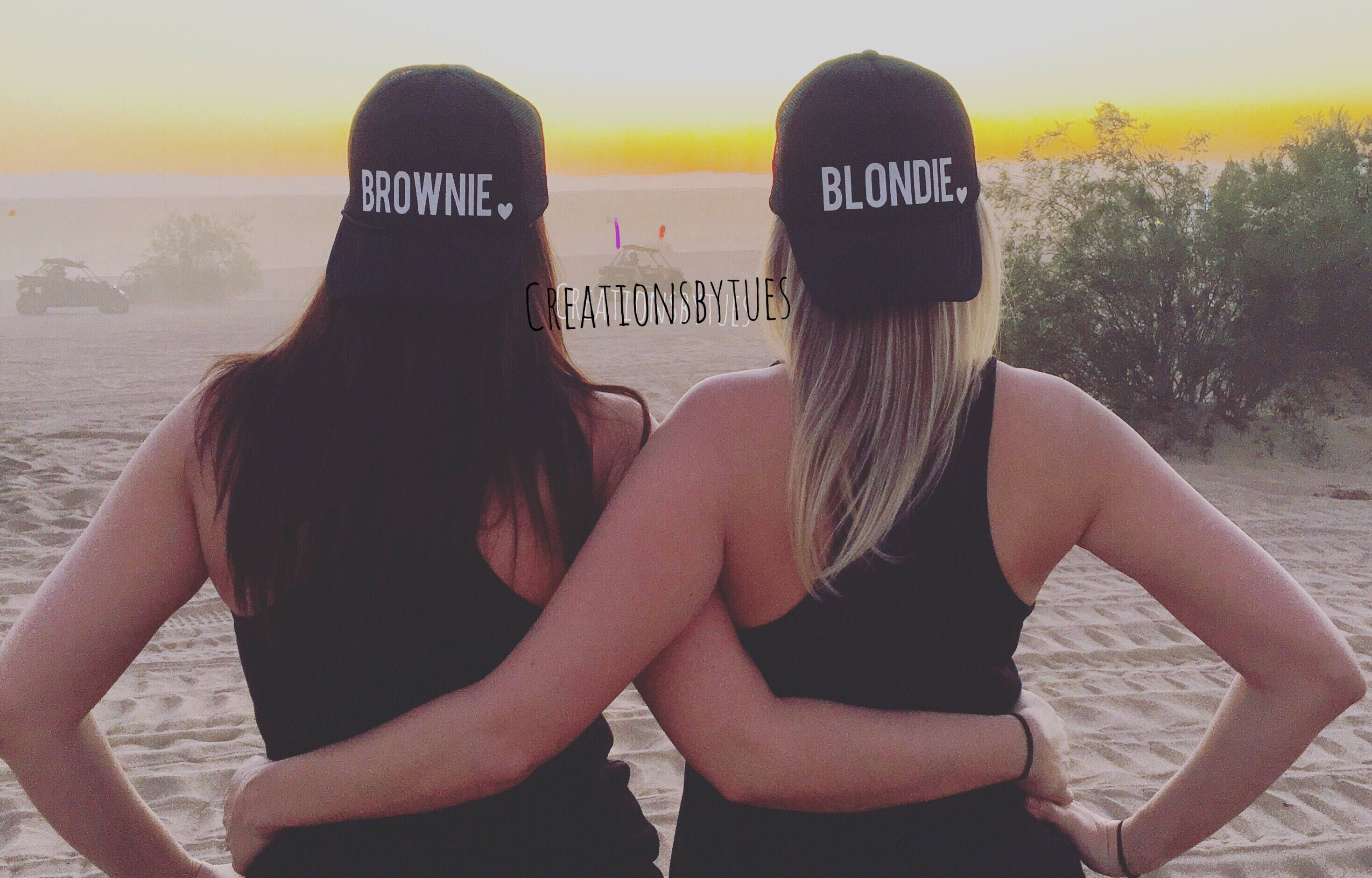 fd5608a411651 Blondie Brownie Blondie Brownie hats Best Friend Hats