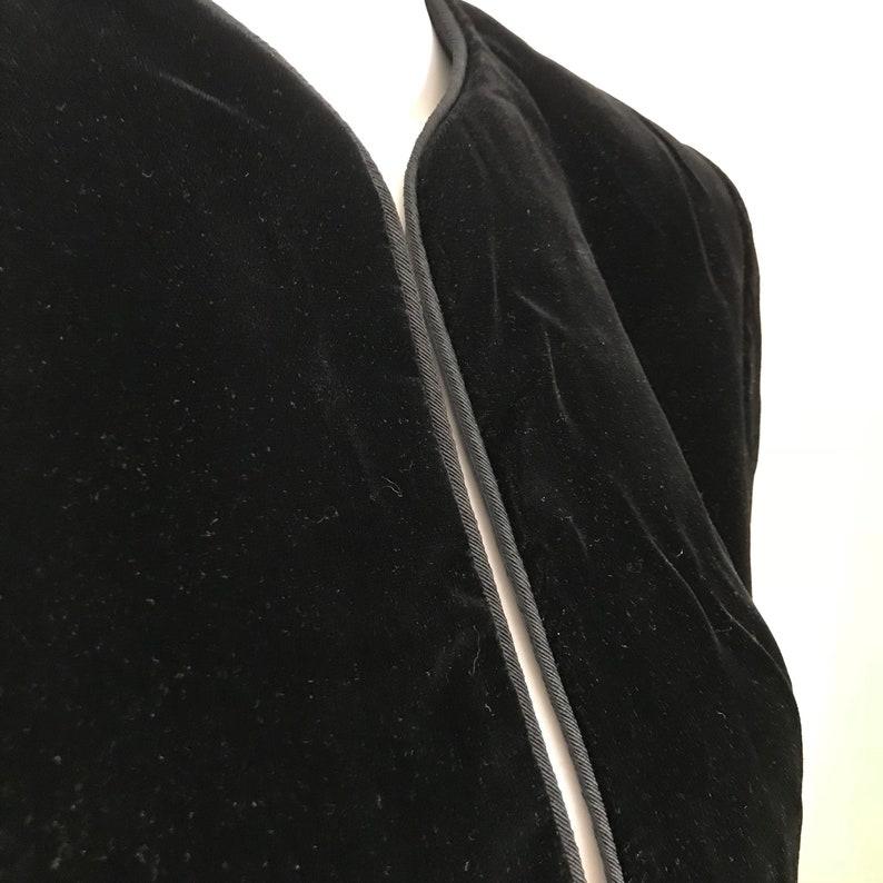 1d828fe3 WAYNE CLARK holt renfrew 4 black velvet silky bolero evening | Etsy