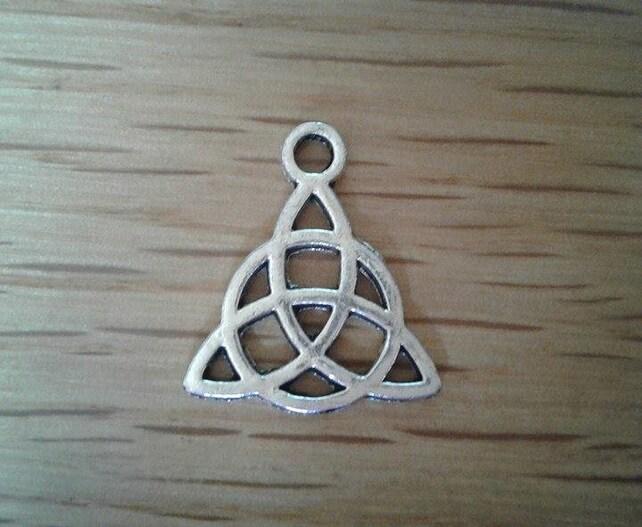 Celtic Knot Silver Toned Charms X 10 Irish Symbol Etsy