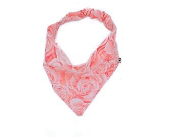 Rose Dog Bandana//Pink Dog Bandana//Flower Dog Bandana//Floral Dog Bandana//Rose All Day Dog Bandana//