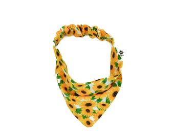 Fall Sunflower Dog Bandana/dog bandana/ cute dog bandana/ flower dog bandana/ girl dog bandana/ summer dog bandana/ sunflower bandana/
