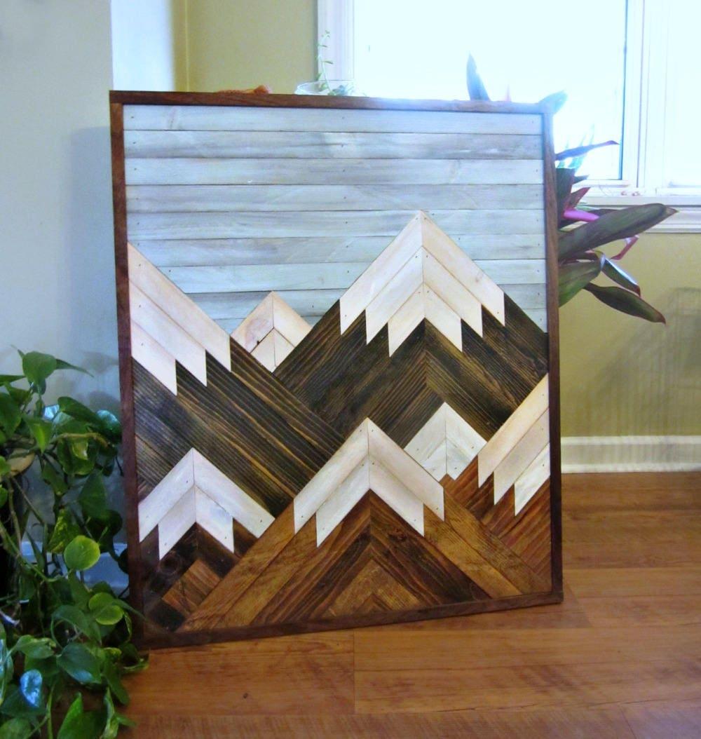 Reclaimed Wood Art Salvaged Wood Decor Wood Wall Art | Etsy