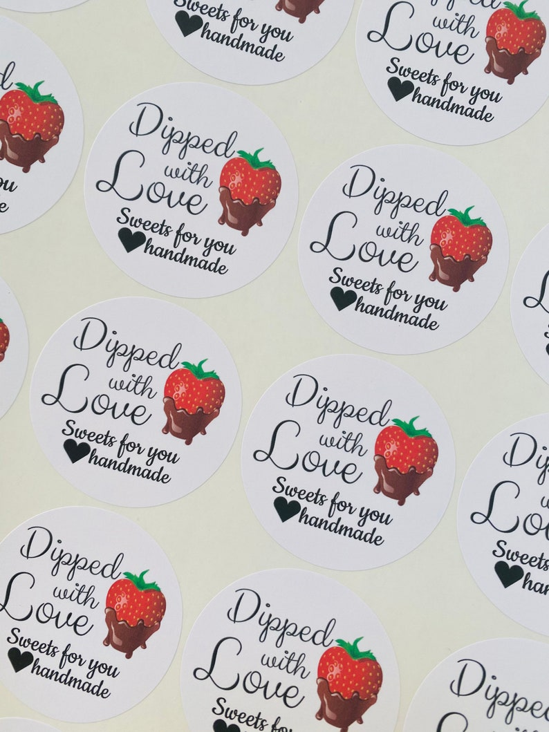 Dipped with Love Stickers
