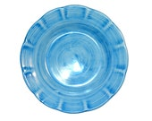 Vietri Hand Made Plain Turquoise Blue Side Plate. Made in Italy.