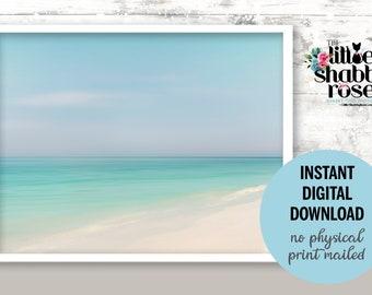 Instant Digital Download Beach Photo, Anna Maria Island Beach, Dreamy Beach Decor, Romantic Beach Photography, Beach Cottage Wall Decor