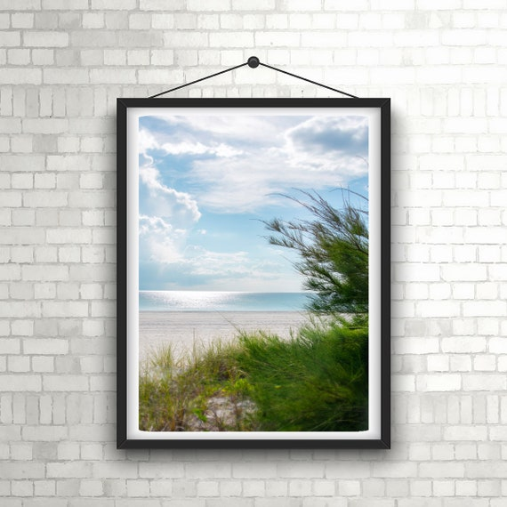Anna Maria Island Bean Point Beach Photography - Coastal Inspired Home  Decor - Pastel Aqua Blue Florida Wall Art - Gulf of Mexico Beach