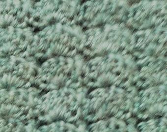 Teal Crochet Scarf
