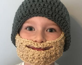 Beard Beanie for a Baby Toddler Child or Adult