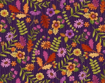 Enchanted Forest - 3834-58 - Flowers - Eggplant by Jennifer Brinley for Studio E