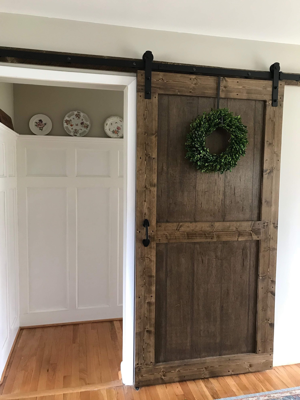Farmhouse Sliding Barn Door Up To 40 Wide