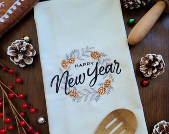 2021 Gift New Years Gift Oversized 28x28 Flour Sack Towel New Beginning Screenprinted Dish Towel Blair Lamb Design