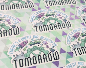 "3"" Tomorrowland Magic Kingdom Vinyl Sticker   Hydroflask Water Bottle Sticker   Bullet Journal Planner Sticker   Waterproof Decal"