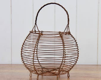 French Vintage Egg Basket ideal for plants, herbs or its original purpose of storing eggs