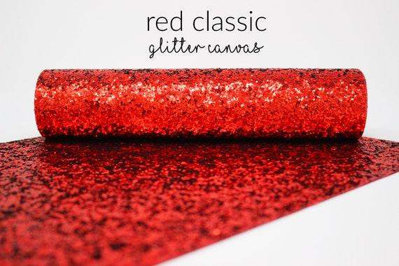 glitter fabric sheet red chunky glitter canvas sheet,8x11 canvas sheet RED GOLD  Chunky glitter glitter fabric material glitter sheet