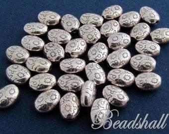 5//10 Großloch Metallperlen Perlen Beads Notenschlüssel Silberfarbe für Paracord