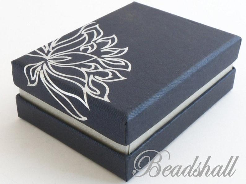 4 x Gift box lotus flower box blue jewelry box