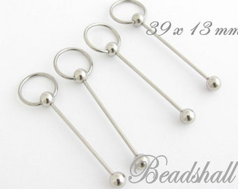 2 interchangeable pendants with ball silver-coloured
