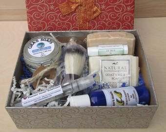 Men's Gift Box (Natural Men's Grooming Products)
