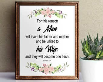 a man will leave his mother and father verse
