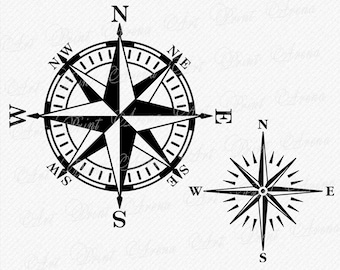 Compass Rose Etsy