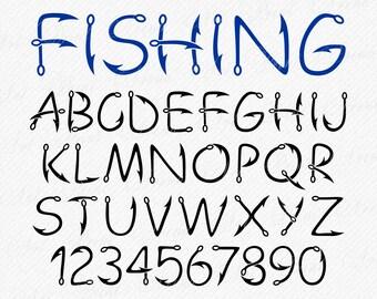 Download Fish Hook Monogram Etsy