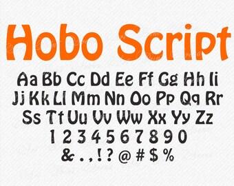 SVG Font Script Kids Comic Alphabet Svg Oval Bold Silhouette Cricut Eps Png