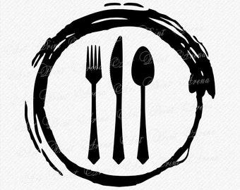Spoon fork logo | Etsy