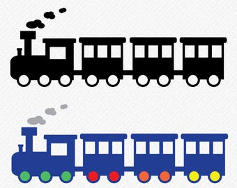 Train Silhouette, Train svg, Train Clipart, Train Vector, Train DXF Cut Files, Transport Cuttable Svg, digital download, svg, dxf, eps, png