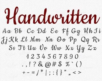 Handwritten Font, Wedding Font SVG, Fancy Script, Brush font, Script, Cursive Script Svg, Cricut and Silhouette - svg, eps, dxf, png