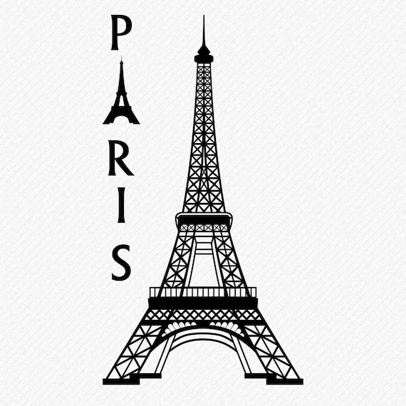 Eiffel Tower Cut Files SVG /& Studio 3 File for Silhouette Brother Cricut Cutouts Decals Designs SVGs Cutout Photo Decal Logos Logo France