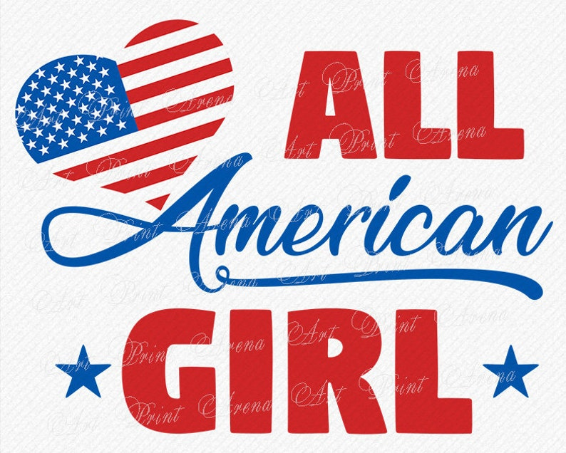 65166adfa9b All American Girl SVG Merica heart flag SVG America svg Fourth