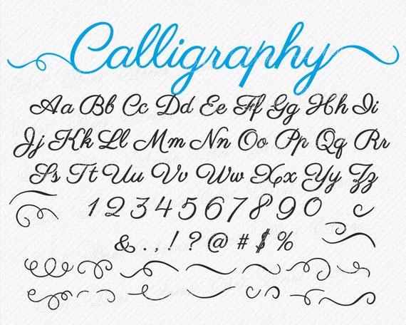SVG fonts SVG font whit swirls swirly Cricut font ...