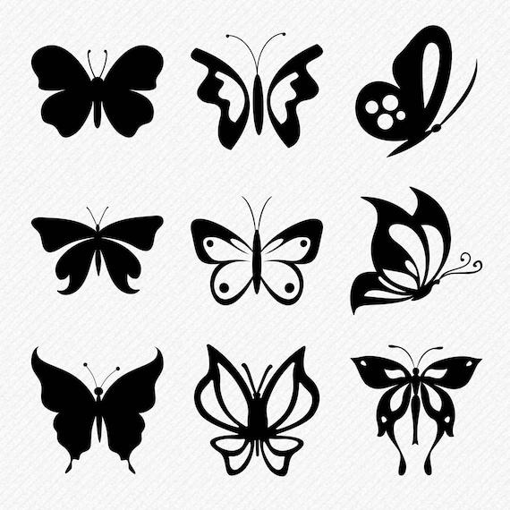 Butterfly Svg Butterflies Silhouette Butterflies Svg Etsy