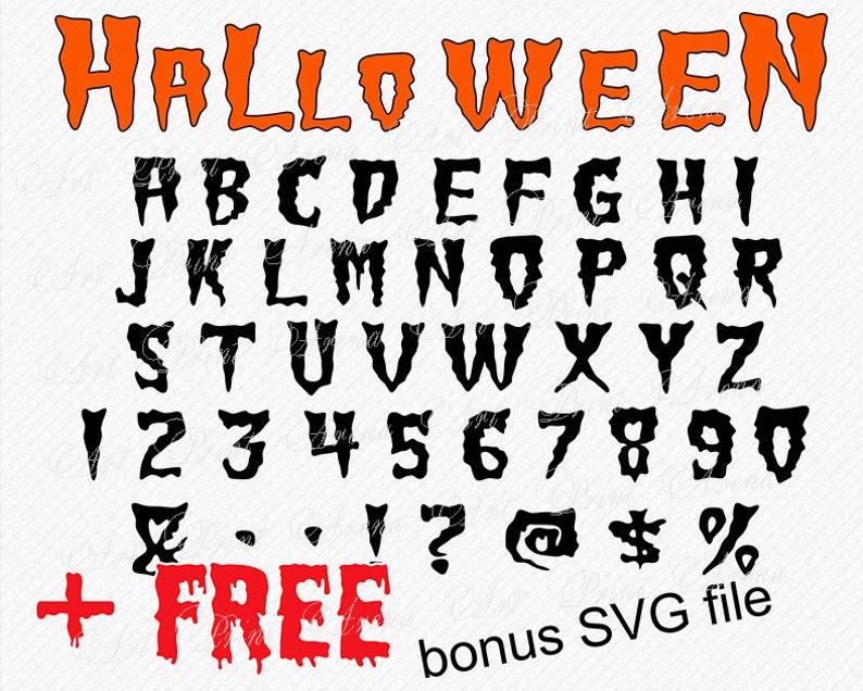 Halloween Font SVG Horror Font Halloween Monogram Font SVG, Halloween  vector Alphabet Halloween Clipart Font for cricut silhouette